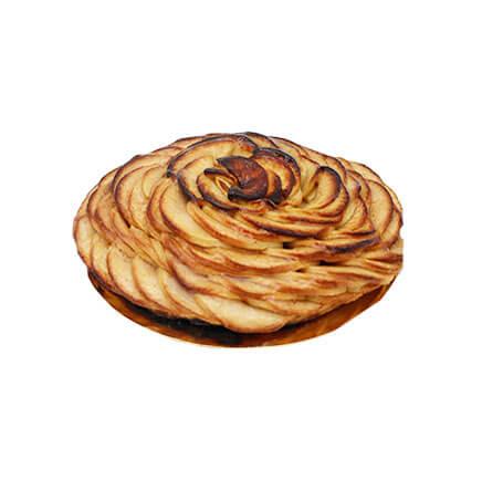 tartelette aux pommes - Le Boulanger Parisien