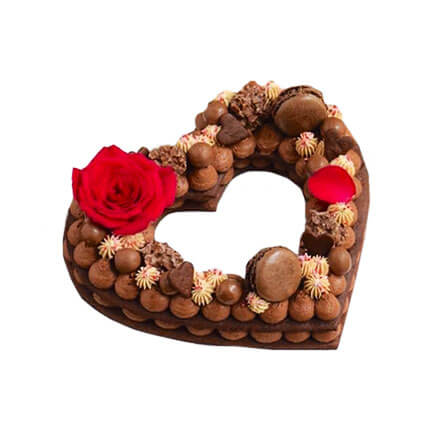 layer cake chocolatée - Saint-valentin - Le Boulanger Parisien