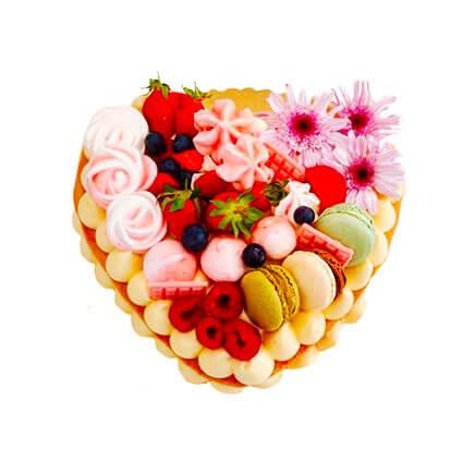 layer cake fruitée - Saint-valentin - Le Boulanger Parisien