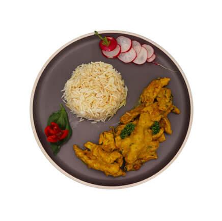poulet au curry avec riz - Le Boulanger Parisien